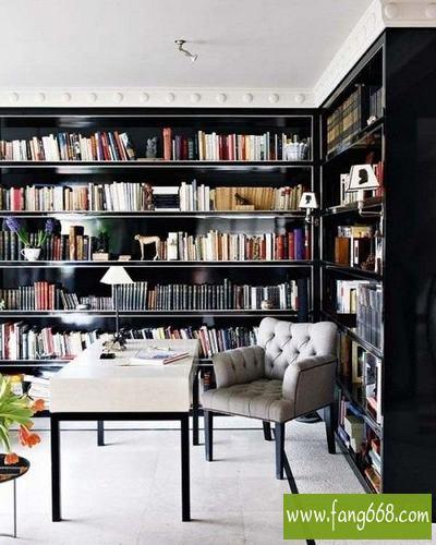 简约书房装修效果图,经典家居书房设计效果图,书房也能像图