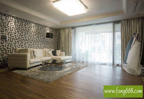 70平方一厅两室潮流的   婚房效果图   欣赏   ,婚房装修效果高清图片
