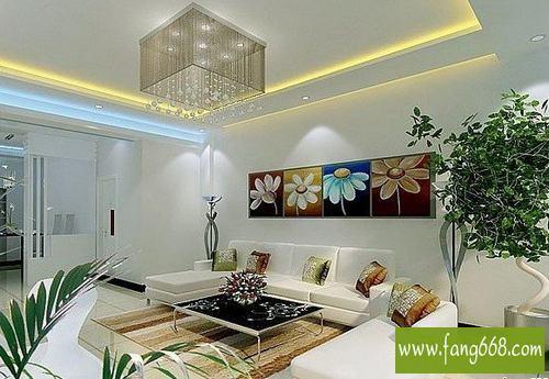 2013家庭室内客厅吊顶装修效果图,特色时尚的吊顶装修设计