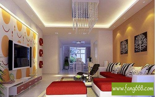 室内客厅装修效果图大全2013图片,现代简约风格客厅背景墙