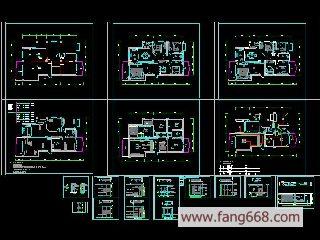 室内装饰设计图简介:室内装修图纸,装修设计图纸,房屋装修图