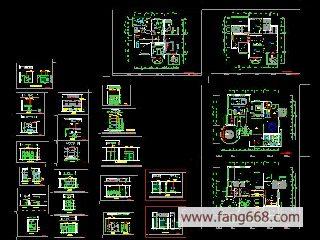 图纸|cad图纸   别墅设计装修图图纸简介:   室内装修图纸,装